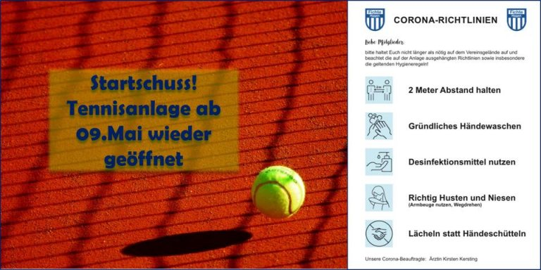Tennisbetrieb unter bestimmten Bedingungen geöffnet