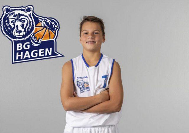 Luis Ohrmann freut sich mit der BG Hagen über seine Nominierung!