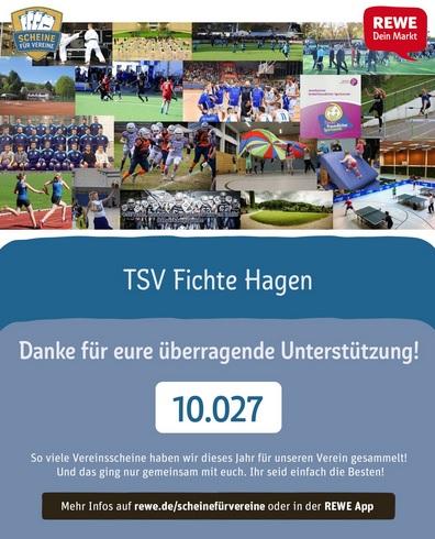 10.000 Vereinsscheine gesammelt - Tolle Unterstützung durch REWE-Aktion