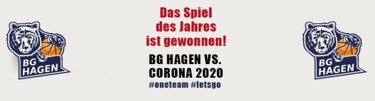Dss Spiel des Jahres ist gewonnen - Spendenaktion stützt die BG Hagen mit 25.000 €