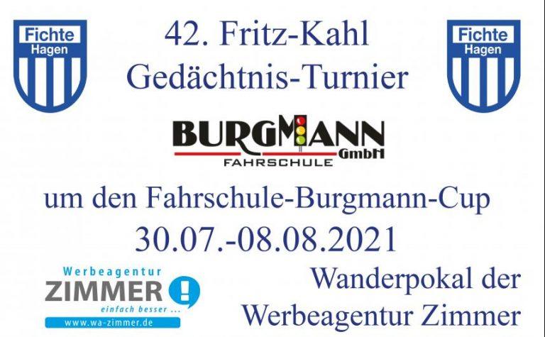 Fritz-Kahl-Gedächtnis-Turnier inkl. Spendenaktion