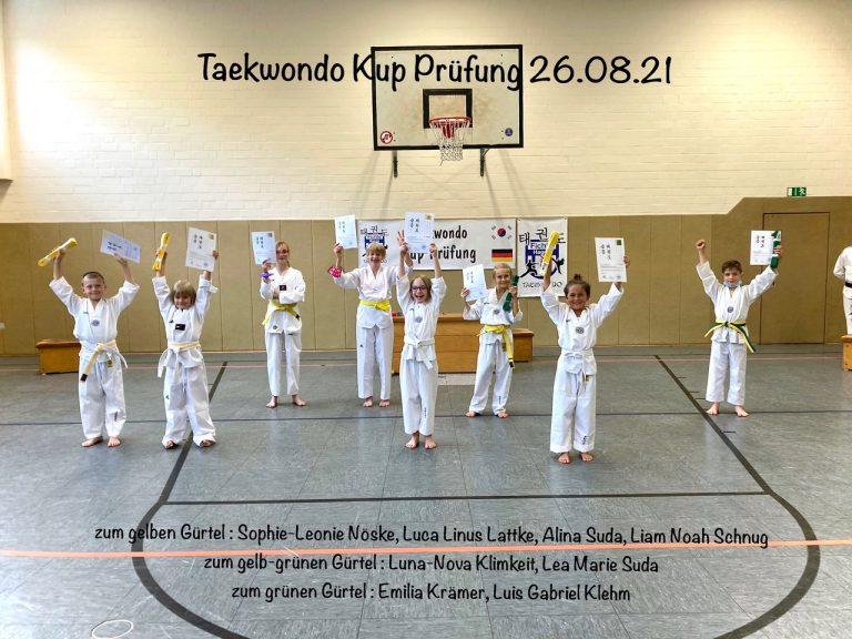 Erfolgreiche Taekwondo Kup-Prüfungen beim TSV Fichte Hagen